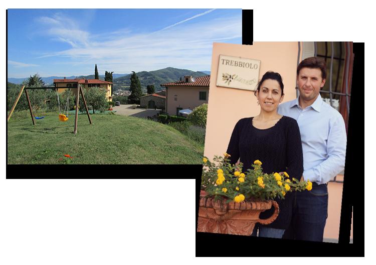 Paolo e Lisa proprietari di agriturismo Trebbiolo in Toscana